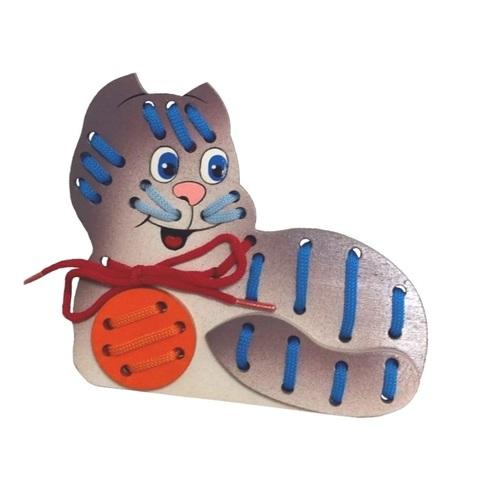 Игрушка-шнуровка кот Мурзик, Крона, арт. 193-014