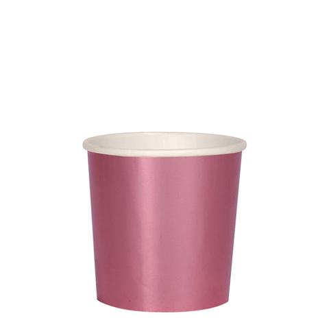 Стаканы розовые фольгированные