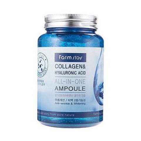 Многофункциональная ампульная сыворотка с коллагеном и гиалуроновой кислотой FarmStay Collagen & Hyaluronic Acid All-in-one Ampoule, 250 мл
