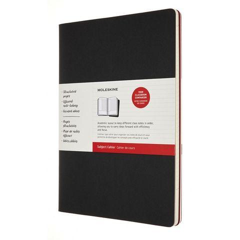 Блокнот Moleskine CAHIER SUBJECT CH5STNB02 A4 обложка картон 192стр. линейка мягкая обложка черный/красный