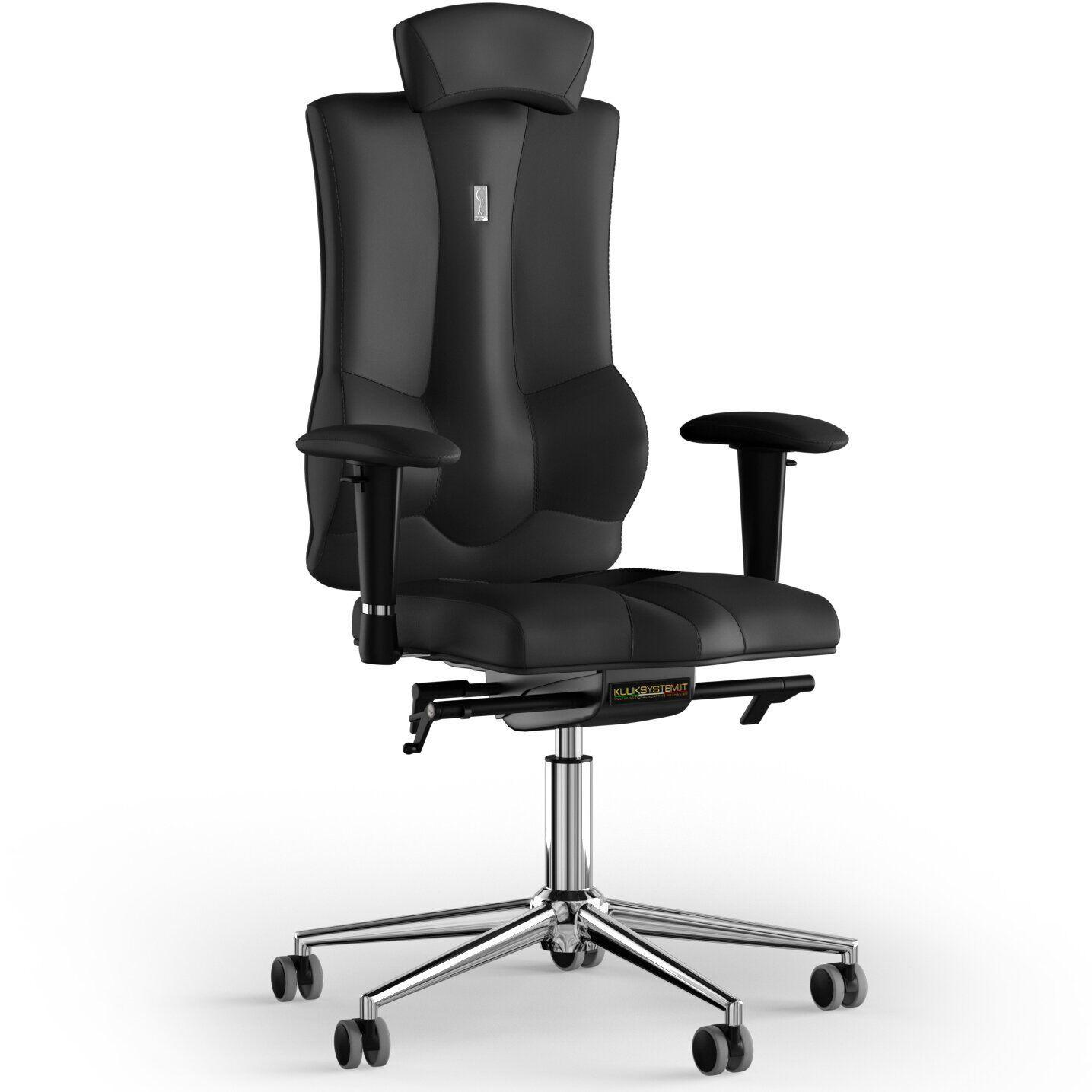 Кресло KULIK SYSTEM ELEGANCE Экокожа с подголовником без строчки