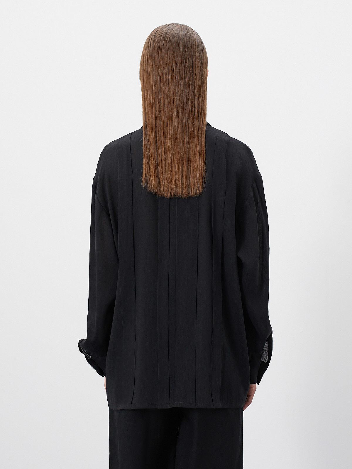 Блуза Faith со складками, Черный