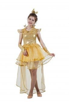 Костюм взрослый Принцесса Золотая