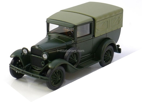 GAZ-4 Pickup with awning 1932-1936 khaki 1:43 Nash Avtoprom