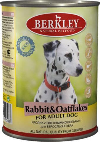 Консервы Berkley Кролик с овсяными хлопьями для собак