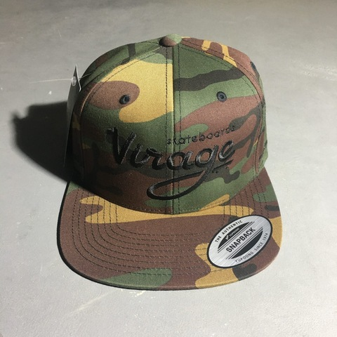 Кепка Virage skateboards logo snapback GREEN CAMO Размер Универсальный