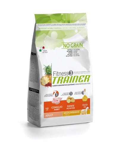 Сухой корм Trainer Fitness3 No Grain Medium/Maxi Adult Rabbit and Potatoes