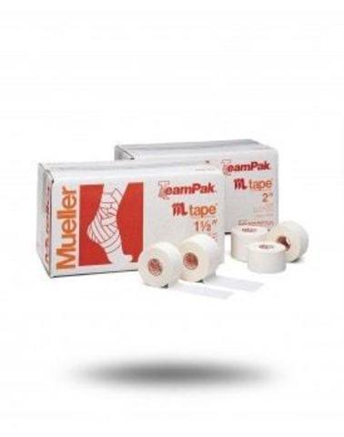 130106  M TAPE, тейп, 100% хлопок/оксидцинка  Mueller 24 рулонов(5 смх13,7 м)