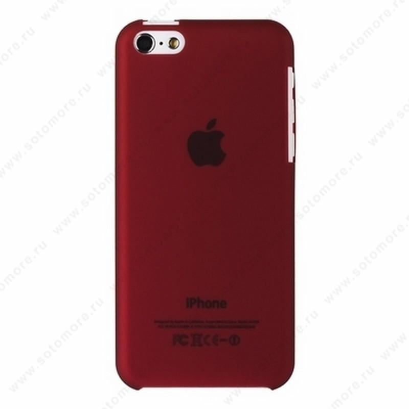 Накладка XINBO пластиковая для iPhone 5C толщина 0.8 мм бордовая