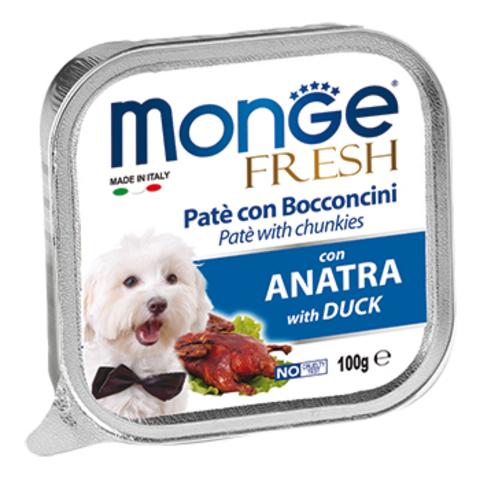 Monge Dog Fresh консервы для собак (утка) 100г