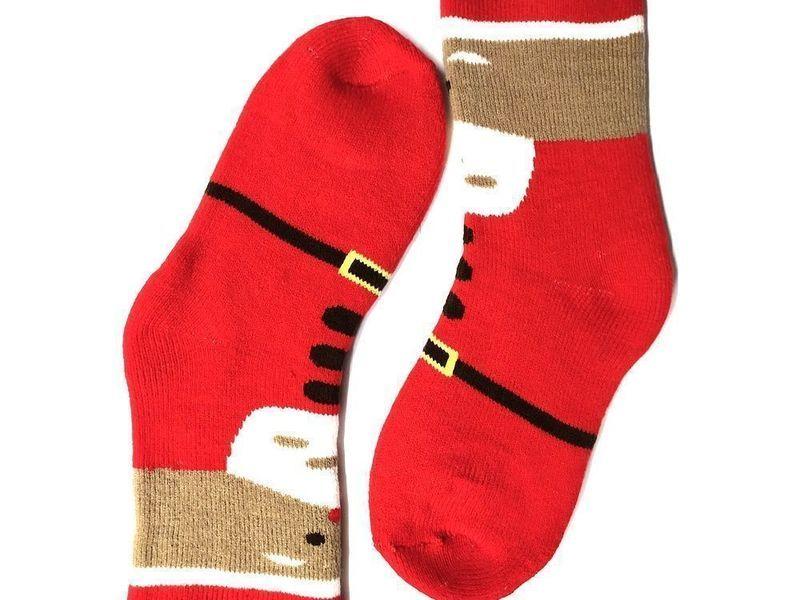 Новогодние носки утепленные красные Santa Look at you