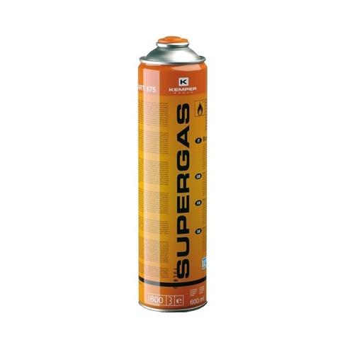 Баллон с газом  KEMPER 575 SUPERGAS (резьб. бал, 600мл/336гр,Бутан70/Пропан30%, темп 1900/2850С)