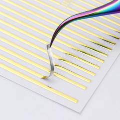 3D эластичные наклейки полосы WHITE (гнутся)