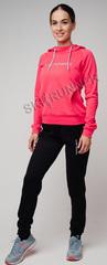 Костюм спортивный флисовый Nordski Kangaroo Cuff Red женский