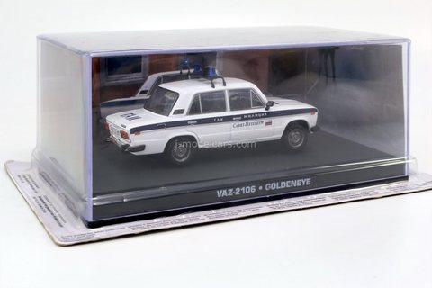 VAZ-2106 Lada Police James Bond Movie Car Goldeneye Altaya 1:43