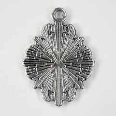 Сеттинг - основа - подвеска для камеи или кабошона 14х10 мм (цвет - античное серебро)