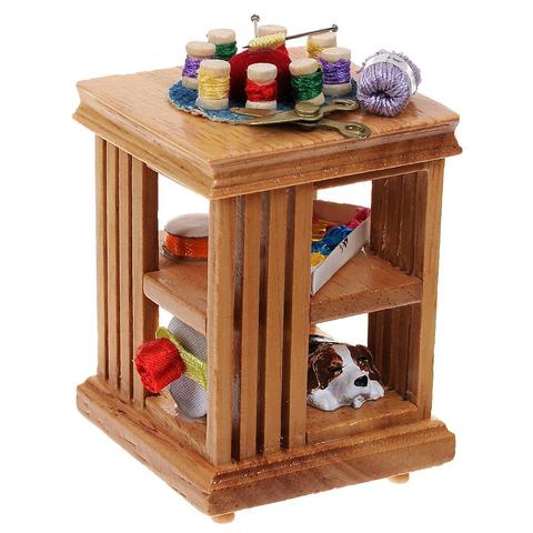 """Кукольная миниатюра """"Столик для швеи"""" AM0102042"""