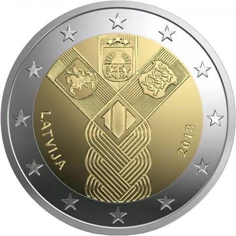 2 евро 2018 - Латвия