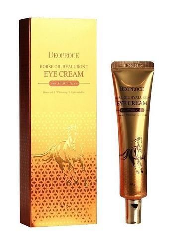 Крем для глаз с гиалуроновой кислотой и лошадиным жиром Deoproce Horse Oil Hyalurone Eye Cream, 40 мл