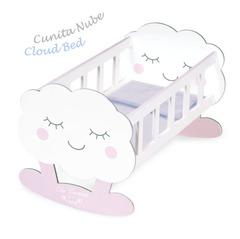 DeCuevas Кроватка-качалка для куклы с аксессуарами серии