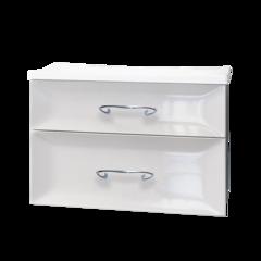 Тумба с раковиной Marka One Delice 75П 2 ящика, white