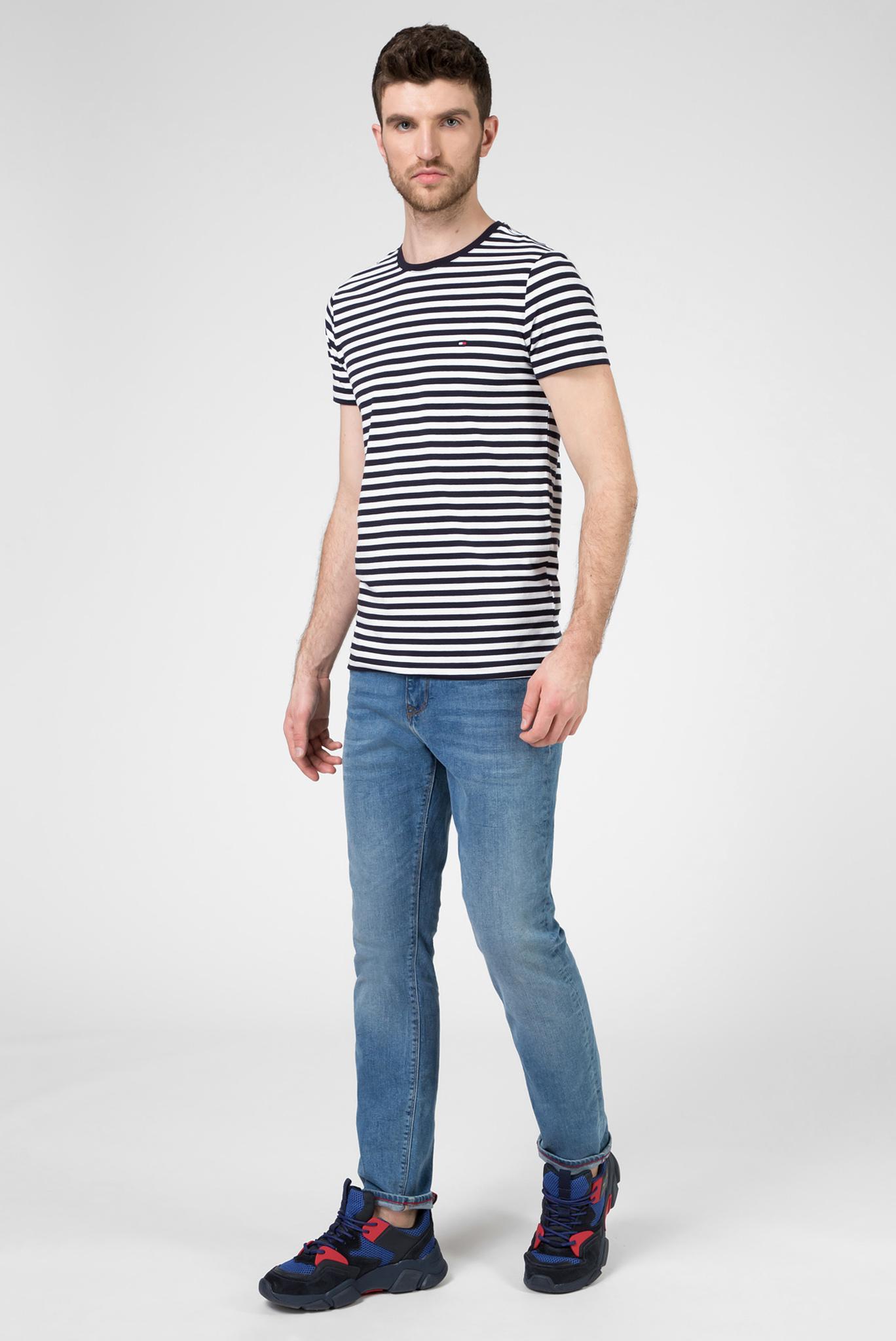 Мужская футболка в полоску STRETCH SLIM FIT Tommy Hilfiger