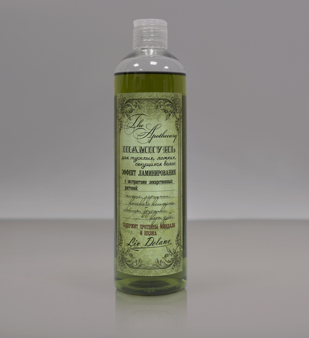 Liv delano The Apothecary Шампунь для тусклых, ломких, секущихся волос Эффект ламинирования 400мл