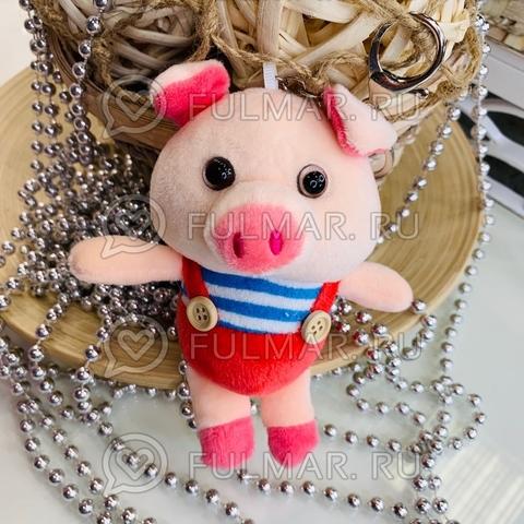 Поросёнок брелок Мистер Пиг Коралловый символ 2019 свинья