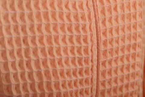 Вафельный детский халат, цвет персиковый