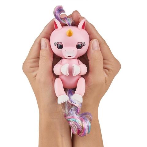 Интерактивный единорог Fingerlings Гемма розовый