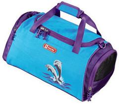 Сумка спортивная Step By Step Happy Dolphins полиэстер голубой/фиолетовый