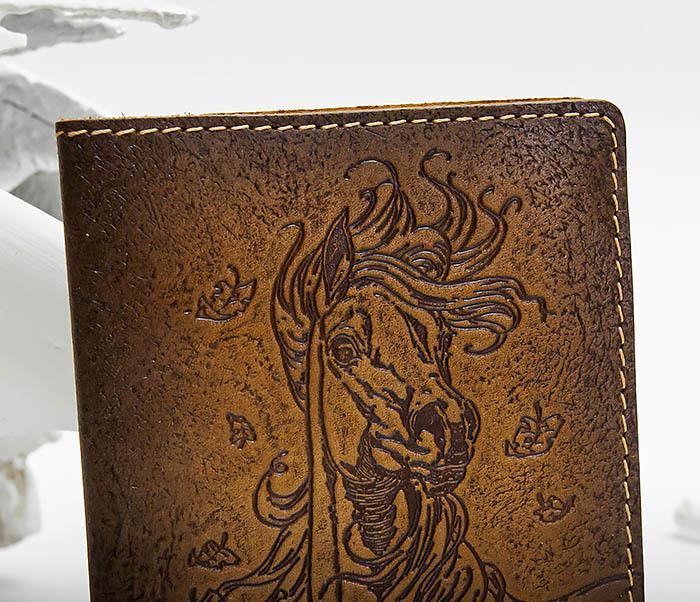 BY041506 Кожаная обложка для авто документов с изображением «Моя Лошадка» фото 02