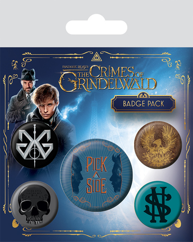 Значки Pyramid: Fantastic Beasts The Crimes Of Grindelwald 5 шт