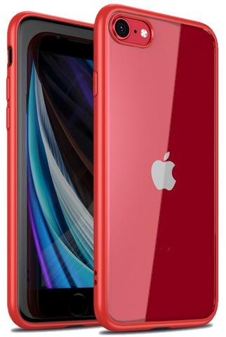 Чехол с красными рамками на iPhone SE (2020), 7 и 8 прозрачная задняя стенка, серии Ultra Hybrid от Caseport
