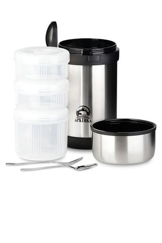 Набор Арктика термос для еды (1,5 литра) + термос (1 литр), стальной