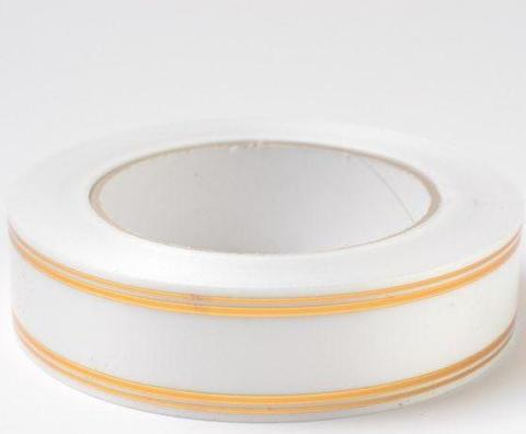 Лента золотая полоса PL (размер: 2 см х 50 ярдов) Цвет: белый