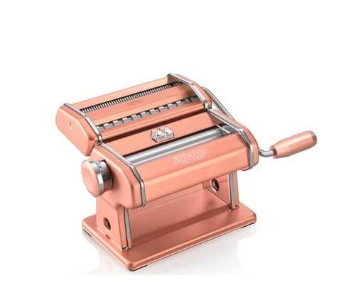 Marcato Atlas 150 розовый, тестораскатка и лапшерезка со сменными насадками, фотозания лапши Маркато Атлас 150 розовая, фото