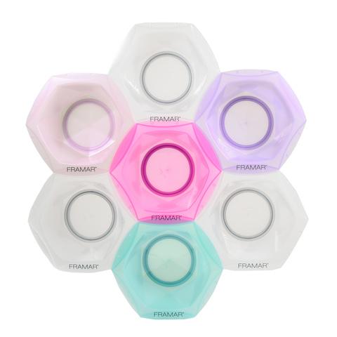 Connect & Color Bowls Rainbow | Соединяющиеся цветные миски для окрашивания (7 шт в наборе)