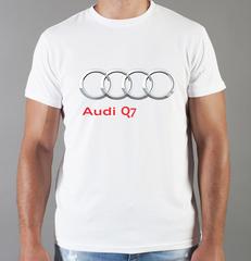 Футболка с принтом Ауди Q7 (Audi Q7) белая 0049