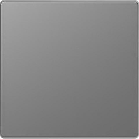 Выключатель одноклавишный проходной. Цвет Нержавеющая сталь. Merten D-Life System Design. MTN3116-0000+MTN3300-6036
