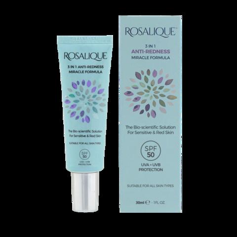 ROSALIQUE | Крем для гиперчувствительной кожи, склонной к покраснениям с SPF 50, (30 мл)