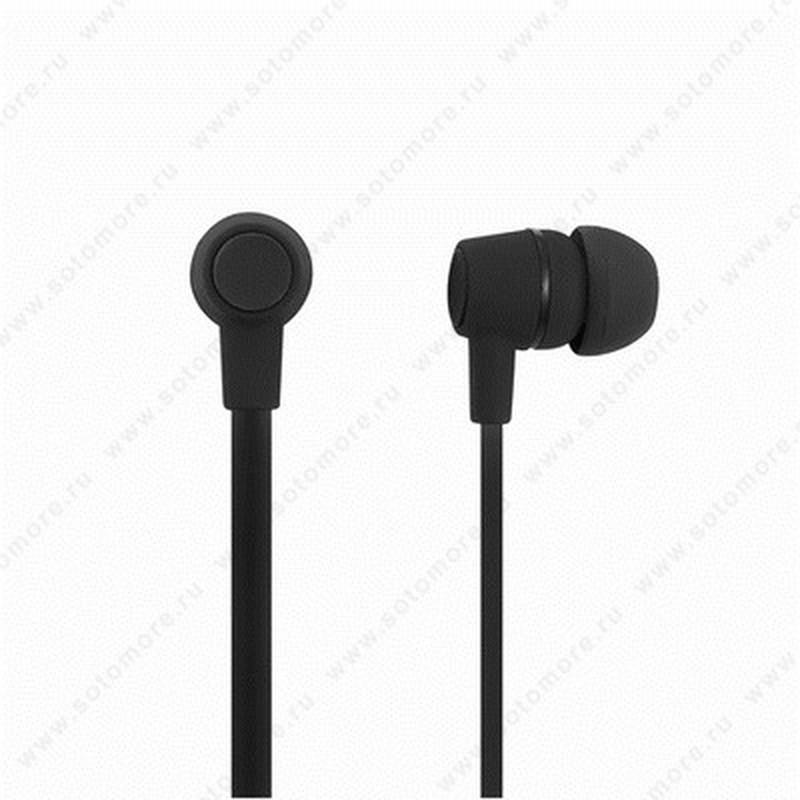 Наушники для MP3 проводные черный