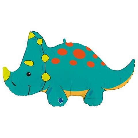 Воздушный шар фигура Динозавр Трицератопс, 91 см