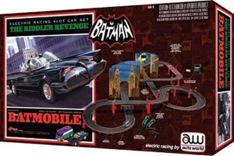 Auto World Batman Slot Car Set The Riddler Revenge