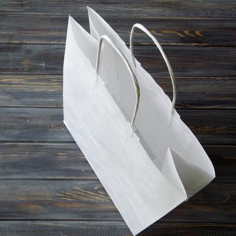 Крафт-пакет с кручеными ручками (24*31см, дно 11см)