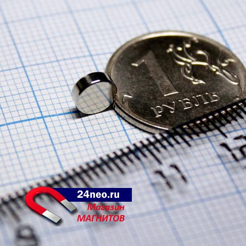 Неодимовый магнит 6х2 мм