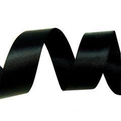 Лента Атлас Черный / 25 мм * 22,85 м