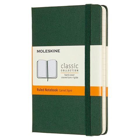 Блокнот Moleskine CLASSIC MM710K15 Pocket 90x140мм 192стр. линейка твердая обложка зеленый