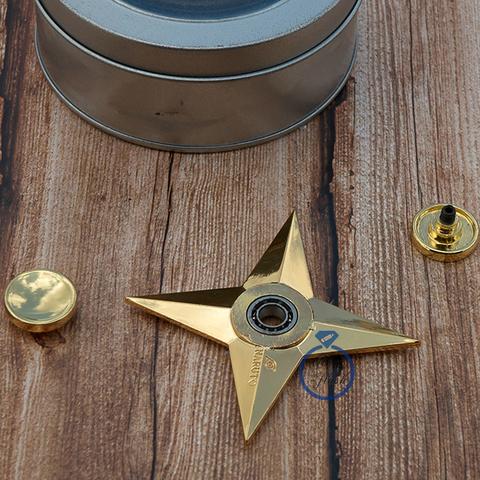 Спиннер из латуни сюрикен-звездочка четырехконечная 17001L