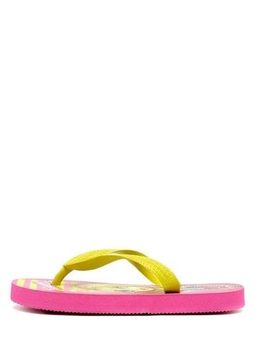 Шлепанцы Монстер Хай (Monster High) пляжные сланцы для девочек, цвет розовый желтый. Изображение 4 из 8.